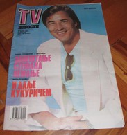 Don Johnson TV NOVOSTI Yugoslavian January 1989 VERY RARE ITEM - Books, Magazines, Comics