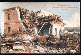 TERREMOTO  DEL 1908 - REGGIO CALABRIA - UNA VILLA - Catastrofi