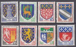 FRANCE - 1962/1965 - Serie Completa Formata Da 8 Valori Nuovi MNH: Yvert 1351A-1354B. - 1941-66 Stemmi E Stendardi