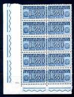 1955-81 REP. IT. PACCHI CONCESSIONE N.18 MNH ** BLOCCO - 6. 1946-.. Repubblica