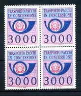 REP. IT. PACCHI CONCESSIONE 3000lire MNH ** BLOCCO - 6. 1946-.. Repubblica