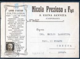 SANT'ELENA SANNITA - ISERNIA - 1938 - CARTOLINA COMMERCIALE - Negozi