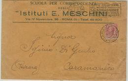 LEONI Cent.10,SU PLICO IN ABBONAMENTO POSTALE,SCUOLA CORRISPONDENZA,1928,A DESTINO RILEVATO STAMPA ADDEBITO, CARAMANICO - Storia Postale