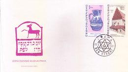 CZECHOSLOVAKIA : FIRST DAY COVER, 22-05-1967 : STATNI ZIDOVSKE MUZEUM PRAHA - Czechoslovakia