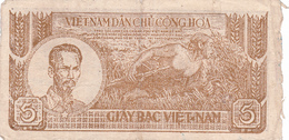 BILLET VIETNAM 5 DONG De 1948 @ PICK 17 - Vietnam
