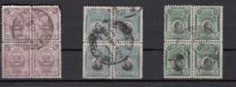 Peru  1918  3 Blocde 4 Timbres - Pérou