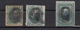 Peru  President Morales Bermudez  En Surcharge  3 Valeurs  1894 - Pérou