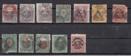 Peru  Timbre De 1874-79  Avec Surcharges 12 Valeurs - Peru