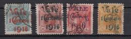 Peru Timbres De 1909 Surchargés 4 Valeurs - Peru
