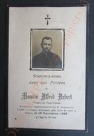 WW1 Image Mortuaire Guerre 1916 Alfred Aubert Vicaire De Saint-Pierre Aumonier Du 2e Chasseurs Tombé Au Champ D'honneur - Images Religieuses