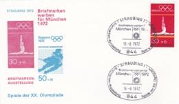 Germany 1972 Olympic Games München - Briefmarken Werben Für München -  Straubing  (DD13-12) - Expositions Philatéliques