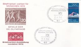 Germany 1972 Olympic Games München - Briefmarken Werben Für München -  Landshut  (DD13-12) - Expositions Philatéliques