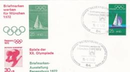 Germany 1972 Olympic Games München - Briefmarken Werben Für München -  Regensburg  (DD13-12) - Expositions Philatéliques
