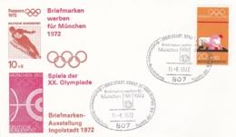 Germany 1972 Olympic Games München - Briefmarken Werben Für München -  Ingolstadt  (DD13-12) - Expositions Philatéliques