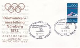 Germany 1972 Olympic Games München - Briefmarken Werben Für München -  Nürnberg (DD13-12) - Expositions Philatéliques