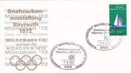 Germany 1972 Olympic Games München - Briefmarken Werben Für München -  Bayreuth (DD13-12) - Expositions Philatéliques