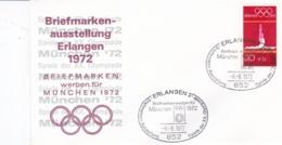 Germany 1972 Olympic Games München - Briefmarken Werben Für München -  Erlangen (DD13-12) - Expositions Philatéliques