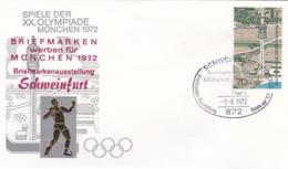 Germany 1972 Olympic Games München - Briefmarken Werben Für München -  Schweinfurt (DD13-12) - Expositions Philatéliques
