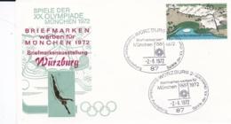 Germany 1972 Olympic Games München - Briefmarken Werben Für München -  Würzburg  (DD13-12) - Expositions Philatéliques