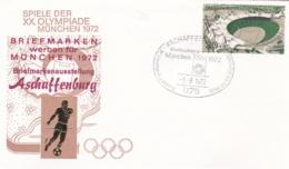 Germany 1972 Olympic Games München - Briefmarken Werben Für München -  Aschaffenburg  (DD13-12) - Expositions Philatéliques