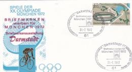 Germany 1972 Olympic Games München - Briefmarken Werben Für München -  Darmstadt  (DD13-12) - Expositions Philatéliques
