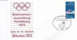 Germany 1972 Olympic Games München - Briefmarken Werben Für München -  Heidelberg  (DD13-12) - Expositions Philatéliques
