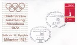Germany 1972 Olympic Games München - Briefmarken Werben Für München -  Mannheim  (DD13-12) - Expositions Philatéliques