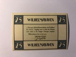 Allemagne Notgeld Wilhelmshaven 25 Pfennig - [ 3] 1918-1933 : République De Weimar