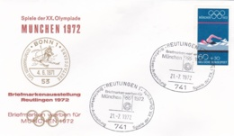 Germany 1972 Olympic Games München - Briefmarken Werben Für München -  Reutlingen (DD13-12) - Expositions Philatéliques