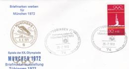 Germany 1972 Olympic Games München - Briefmarken Werben Für München -  Tübingen  (DD13-12) - Expositions Philatéliques