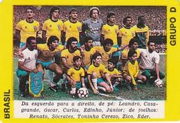 PORTUGUESE CALENDAR POCKET - SOCCER - WORLD CUP MÉXICO 1986 - BRASIL -  FUTEBOL TEAM - Calendriers