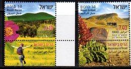 ISRAEL, 2019, MNH, MOUNTAINS, MOUNTAINS OF ISRAEL, 2v+TAB - Géologie