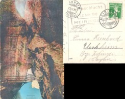 "AK  ""Aareschlucht Meiringen""  (datierter Hotelstempel)          1912 - Suisse"