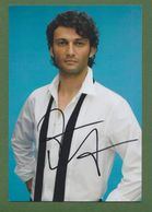 JONAS KAUFMANN Original In Person Signed Glossy Photo AUTOGRAPHE / AUTOGRAMM  13/18 Cm *OPERA* - Autographes