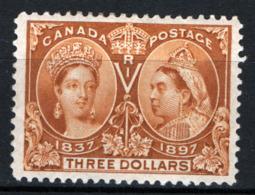 Canada 1897 Y.T.51 MH/* VF/F - Cert R.Diena - 1851-1902 Regno Di Victoria