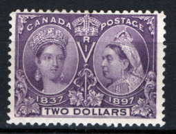 Canada 1897 Y.T.50 MH/* VF/F - Cert R.Diena - 1851-1902 Regno Di Victoria