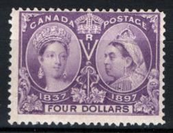 Canada 1897 Y.T.52 MNH/** VF/F - Cert R.Diena - 1851-1902 Regno Di Victoria