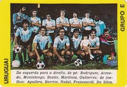 PORTUGUESE CALENDAR POCKET - SOCCER - WORLD CUP MÉXICO 1986 - URUGUAI  -  FUTEBOL TEAM - Calendriers