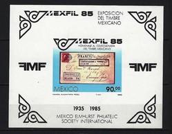 MEXIKO - Blöcke Mi-Nr. 28 - Briefmarkenausstellung MEXFIL '85  Postfrisch - Mexiko