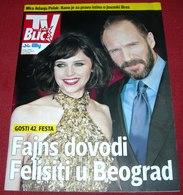 Felicity Jones Ralph Fiennes TV BLIC Serbian March 2014 VERY RARE - Books, Magazines, Comics