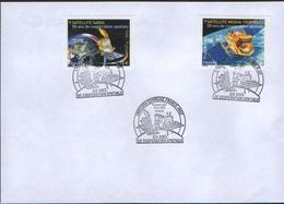France- France - India Joint Issue FDC On Space - Joint Issues