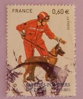 """FRANCE  YT 4585 OBLITÉRÉ"""" POMPIER AVEC UN CHIEN"""" ANNÉE 2011 - France"""