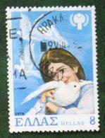 8 Dr Year Of The Child Dove Bird Vogel 1979 Mi 1363 Y&T - Used Gebruikt Oblitere HELLAS GRIECHENLAND GREECE - Griechenland