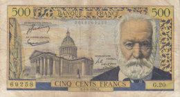 Billet 500 F Victor Hugo Du 4-3-1954 FAY 35.02 Alph. G.20 - 1871-1952 Anciens Francs Circulés Au XXème