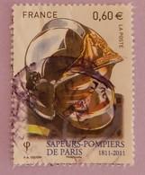 """FRANCE YT 4591 OBLITÉRÉ"""" CASQUE ET MASQUE DE  POMPIER """" ANNÉE 2011 - France"""