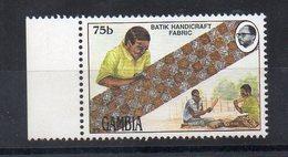 GAMBIE - GAMBIA - REGARDS SUR LA GAMBIE - LOOKS ON GAMBIA - HANDICRAFT - ARTISANAT - BATIK - 1990 - 75b - - Gambie (1965-...)