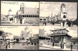 Exposition Bruxelles 1910 - Lot 4 Cartes Animée - Expositions Universelles