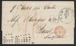 1867 Etats Unis - New York A BASEL, Suisse - Via France - Marque F/60 (Convention Postale 1865 Entre Suisse Et France ) - Poststempel