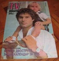 Harry Hamlin TV NOVOSTI Yugoslavian December 1987 VERY RARE ITEM - Books, Magazines, Comics