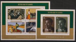 Guinée - 1977 - Bloc Feuillet BF N°Yv. 37 Et 38 - PDG - Dentelés - Neuf Luxe ** / MNH / Postfrisch - Guinea (1958-...)